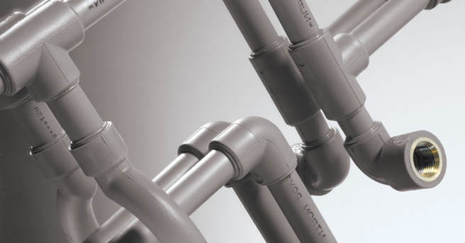 Polypropylene pipe and fitting expansion